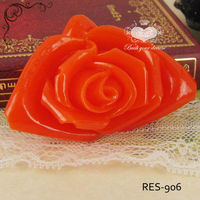 Red Large Resin Rose Resin Decorations Supplier 40*59mm