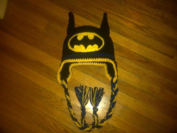 ,детские фотографии опора 100% хлопок бесплатная доставка,крючком для детского мультфильма Бэтмен шляпа - черный и желтый