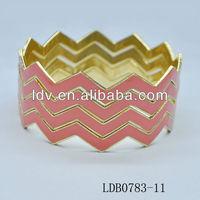 2013 Popular Jewelry Hinged Bracelet Bangle Stackable Bracelets Zag Zig Bangle