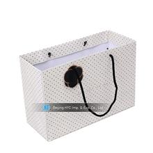 OEM Customize shopping gift logo laser cut shopping tote bag