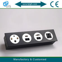 New design multi socket wall sockets with S-Video