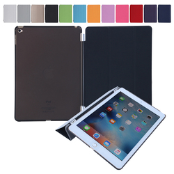 2015 New Arrival and Hot sales PU smart cover case Many folded 3 styles tablet smart case for iPad mini 4