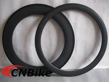 Best value!! 50mm front 88mm rear ultralight carbon fiber clincher rims with 25mm width /3K matte 700 carbon bike rims