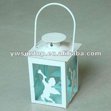 cheap mini metal Moroccan Angel Pattern Lantern Candle Holder Favors wholesale decorative