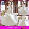 ST01 Custom Made Mermaid One Shoulder Lace Appliqued Alibaba Wedding Dress 2015