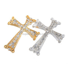 40x29.8mm Hotsale gold and silver Alloy Cross Jewelry Connector