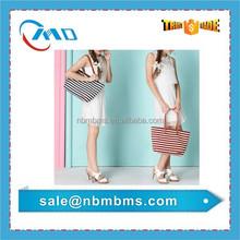 Hot Sale Stripe Pattern Canvas Beach Bag