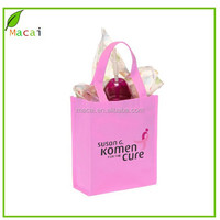 Pink New design ecofriendly nonwoven bag for shopping