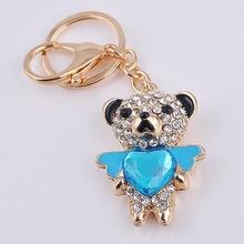 pendant diamond Keychain Get creative activities of small gifts Bear Keychain car key