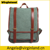 6831 Fashionable Vintage Canvas Leather School Backpack for Ladies