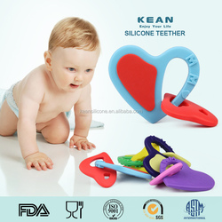 Heart necklace silicone pendant teething wholesale doll pendant