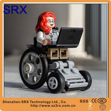 Wheelchair girl cartoon action figure,Oem eco-friendly plastic cartoon cation figure, Oem pvc action figure