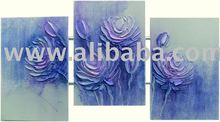 Roses painting, textured on canvas, handmade ,exclusive brazilian art