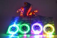 Wholesale Optical Fiber LED Shoelaces Glow Dark Light Up Shoelaces Party Product