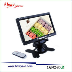 7 inch monitor 7 inch USB Monitor 7 inches LCD Monitor With 2AV Input
