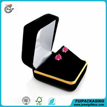 Customized Top quality velvet jewelry earring box, custom earring box made in china