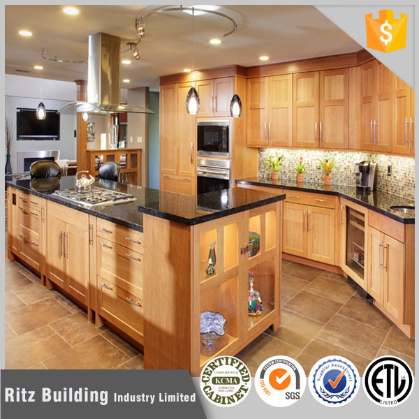 Ritz Wood Commercial Display Kitchen Cabinets For Sale In