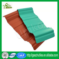fireproof easy installation pvc translucent wave tile