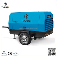 Top grade diesel engine portable air compressor