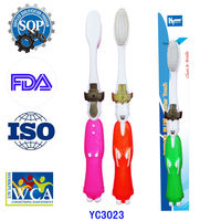 2015 Hot Selling Wholesale Adult Toothbrush With Tongue Cleaner YC3023