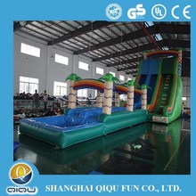 2015 New style giant inflatable water slide,double lane slide