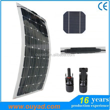 high efficiency hot sale china supplier waterproof CE outdoor led street lighting flexible solar panel 100w