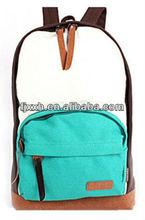 2012 hot-selling girls sweety canvas school backpacks