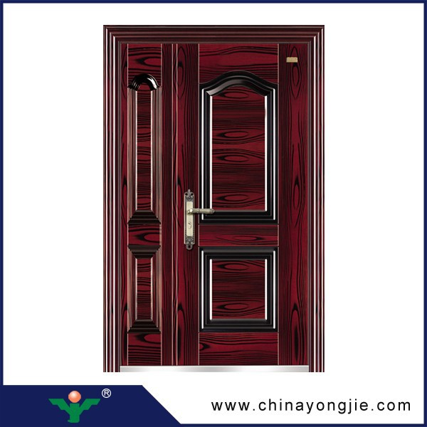 New coming promotional used exterior french steel doors for Steel front doors for sale