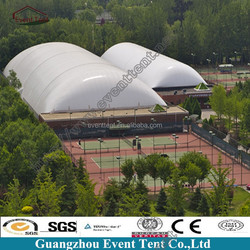 Easy maintenance transparent PVC giant inflatable tent for city logo
