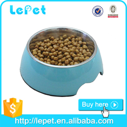 wholesale low price melamine non-skid stainless dog feeding bowls