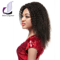 Virgin hair lace front wigs short afro kinky lace human hair wigs