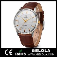 Brown genuine leather fashion analog digital wrist watch,top 10 wrist watch brands for men,vogue leather wrist watch
