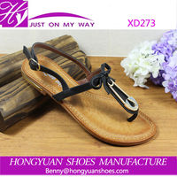 most popular ladies flat sandals, top quality charming sandal shoes