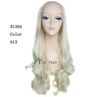 Wave Wig 3/4 Half Wigs Long Curly Wavy for Lady's Wig Kanekalon Heat Resistant Fiber 10 piece/lot 81304