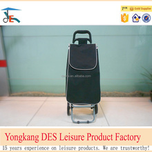 Solid color 600D small portable folding shopping cart from China