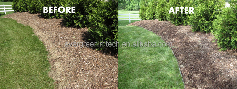 before and after surelocjpg - Plastic Garden Edging