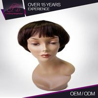 Good Quality Full And Thick Machine Made Real Virgin Remy Hair Finger Wave Wig