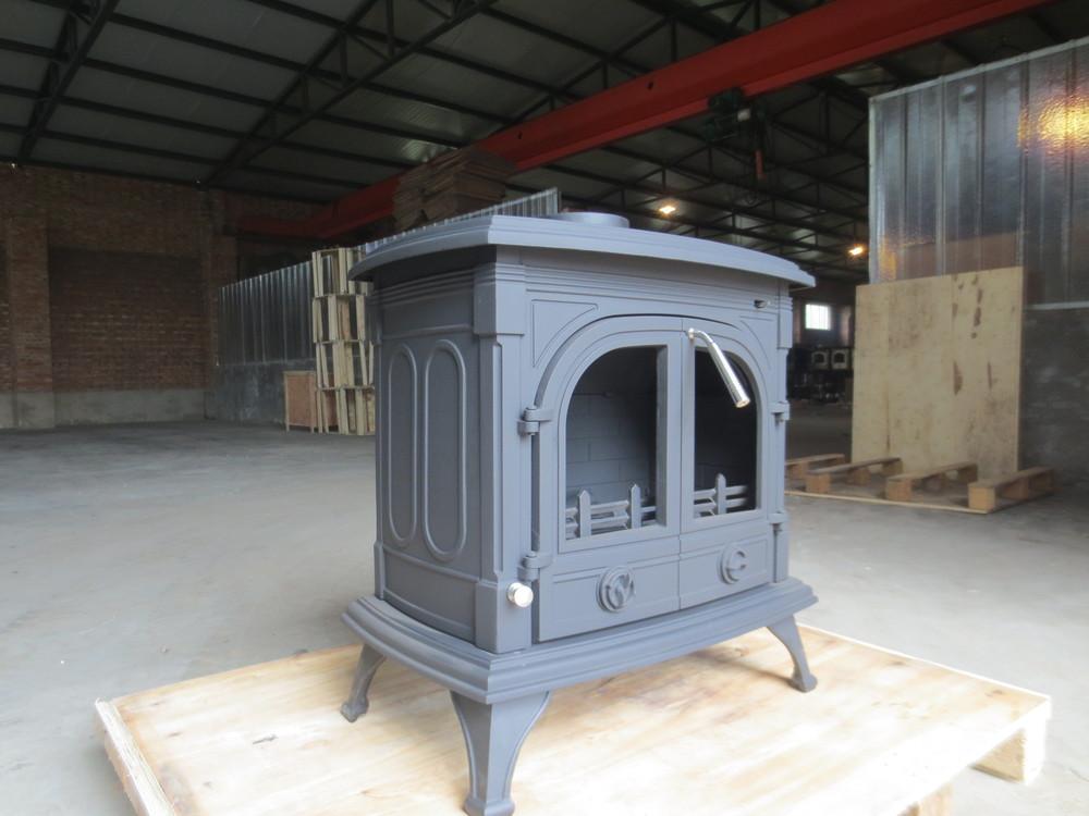 Fonte livraison permanent poêle à bois avec deux portes à