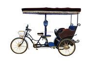 2015 fashional passenger electric bike rickshaw factory price/taxi bike tricycle in China