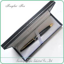 2015 wholesale custom ball pens with logo metal black shell pen