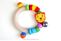 wooden ring bell kids gift baby toy