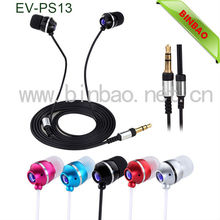 In ear Wired fancy high performance earphones metal earphone EV-PS13