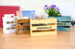 wood material wooden desktop storage box