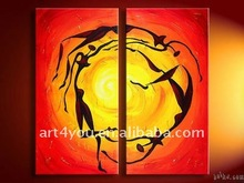 Hotly saled abstract painting for adorning home 2011