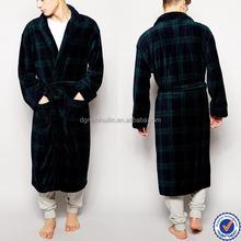 wholesale plaid kimono bathrobe for men