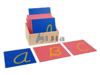 montessori -Capital Case Cursive Sandpaper Letters Print montessori teaching materials toy