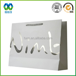 Wholesale logo printed retail art paper bag for clothes