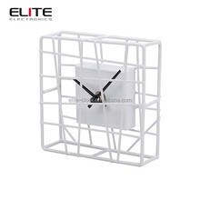 Wrought iron small clock for home decor