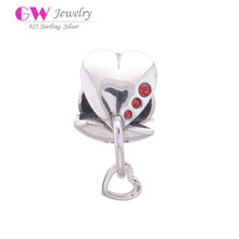 Heart Pieces Connecting Large Hole S925 Silver Decorative Beads Bracelet Jewelry