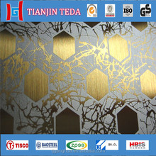 High Quality 304 stainless steel checkered/etching plate